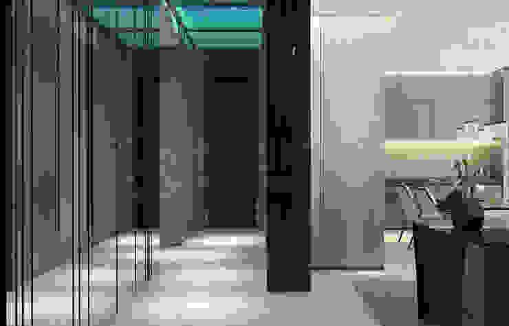 Modern corridor, hallway & stairs by Anton Neumark Modern