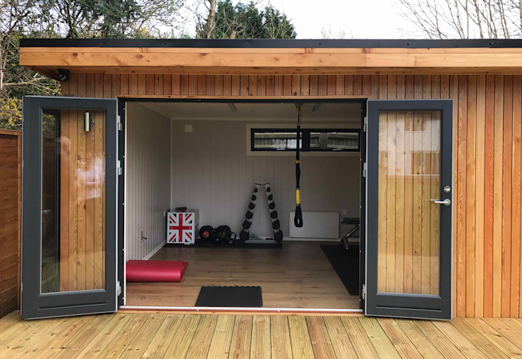 Nordic Room as a home gym Scandinavian style gym by Nordic Wood Ltd Scandinavian