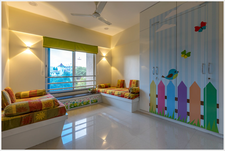 Mr. Prashant Pawar and Family Modern nursery/kids room by GREEN HAT STUDIO PVT LTD Modern