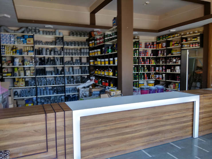 Hardware shop interior at sanawad Bodhivraksh Design Studio Modern study/office