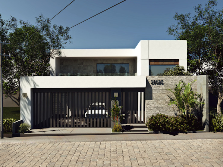 Proyecto Morán Casas minimalistas de CODIAN CONSTRUCTORA Minimalista