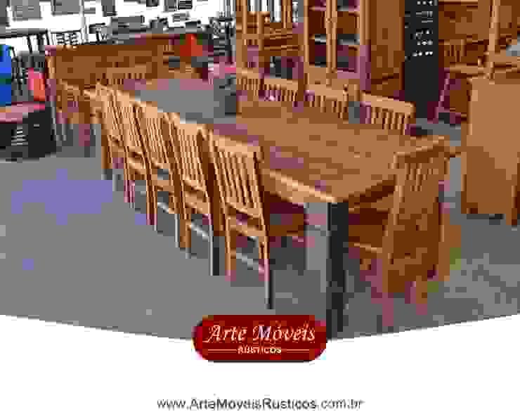 Conjunto de Mesa com Cadeiras em Peroba Rosa - 44080 por Arte Móveis Rústicos Rústico Madeira maciça Multi colorido