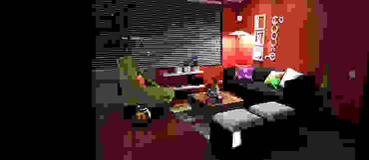 propuesta de decoración interior Salas modernas de Omar Interior Designer Empresa de Diseño Interior, remodelacion, Cocinas integrales, Decoración Moderno Madera Acabado en madera