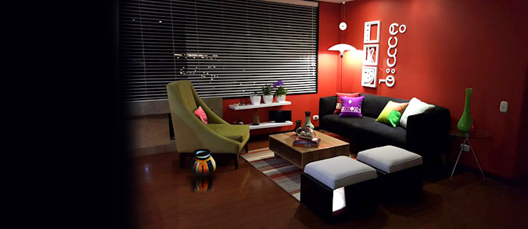 Moderne Wohnzimmer von Omar Interior Designer Empresa de Diseño Interior, remodelacion, Cocinas integrales, Decoración Modern Holz Holznachbildung