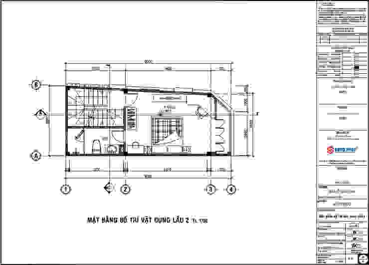 Bản vẽ thiết kế mặt bằng lầu 2. bởi Công ty TNHH TK XD Song Phát Hiện đại Ván ép