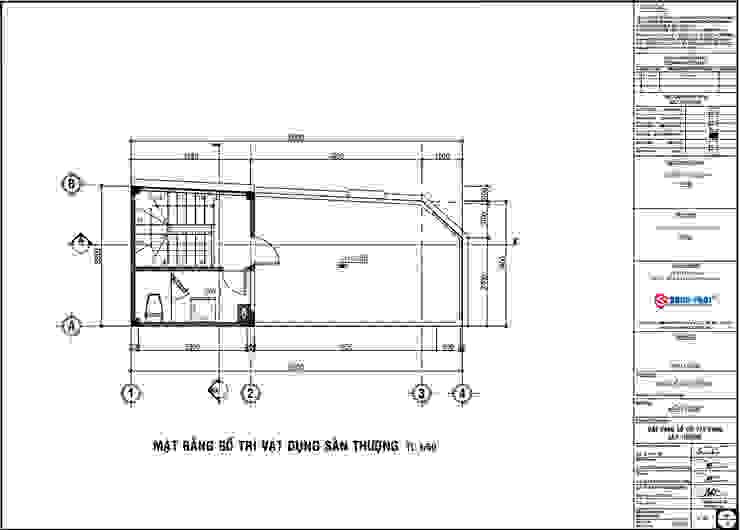 Bản vẽ thiết kế mặt bằng tầng thượng. bởi Công ty TNHH TK XD Song Phát Hiện đại Đá hoa