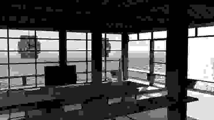 Living Room Ruang Keluarga Tropis Oleh alexander and philips Tropis Kayu Wood effect