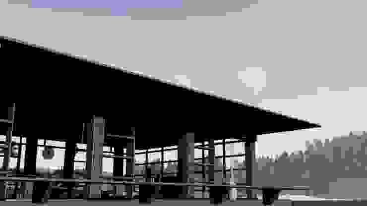 Porch Balkon, Beranda & Teras Tropis Oleh alexander and philips Tropis Kayu Wood effect