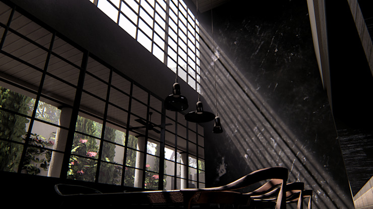 Dining Room alexander and philips Ruang Makan Klasik Marmer Black