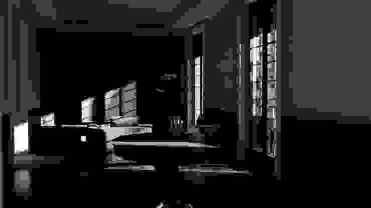 Living Room alexander and philips Ruang Keluarga Klasik Granit Black