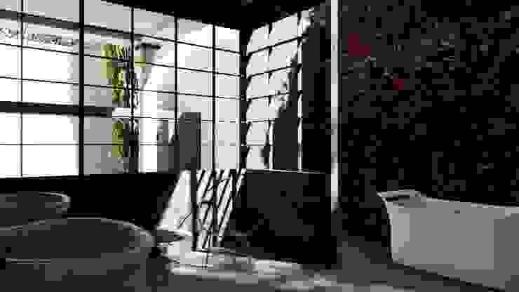 Master Bathroom alexander and philips Kamar Mandi Klasik Besi/Baja Black