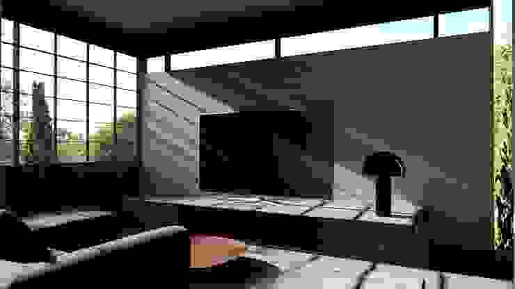 Living Room alexander and philips Ruang Keluarga Klasik Kayu White