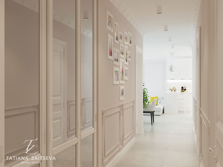 Classic style corridor, hallway and stairs by Design studio TZinterior group Classic