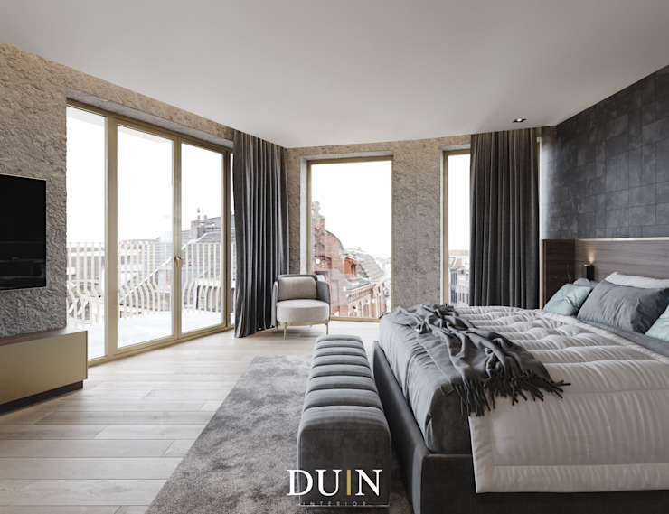 Fine Luxury Master Bedroom, Merckt Groningen Moderne slaapkamers van DUIN INTERIOR Modern Koper / Brons / Messing