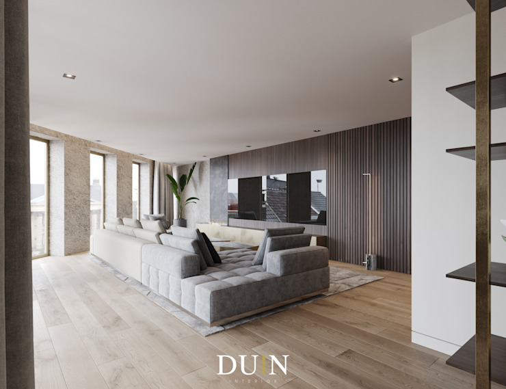 Merckt, Grote Markt Groningen Moderne woonkamers van DUIN INTERIOR Modern Koper / Brons / Messing