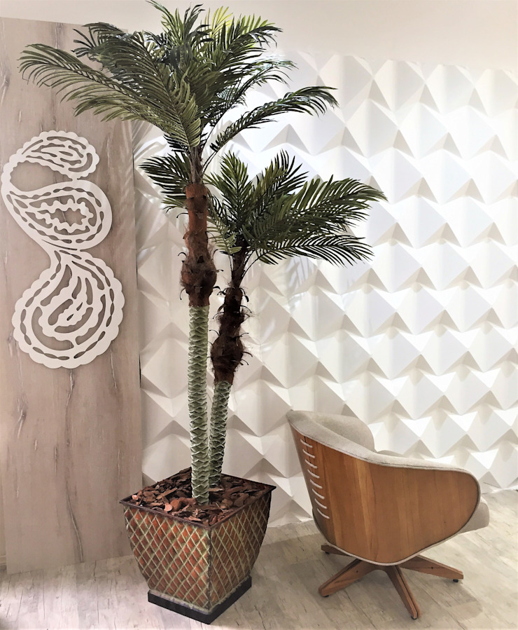 Parede com Revesimento Cimentício por Sgabello Interiores Moderno Concreto