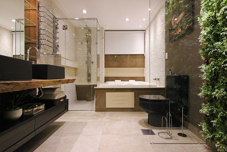 Modern style bathrooms by INSIDE ARQUITETURA E DESIGN Modern Stone
