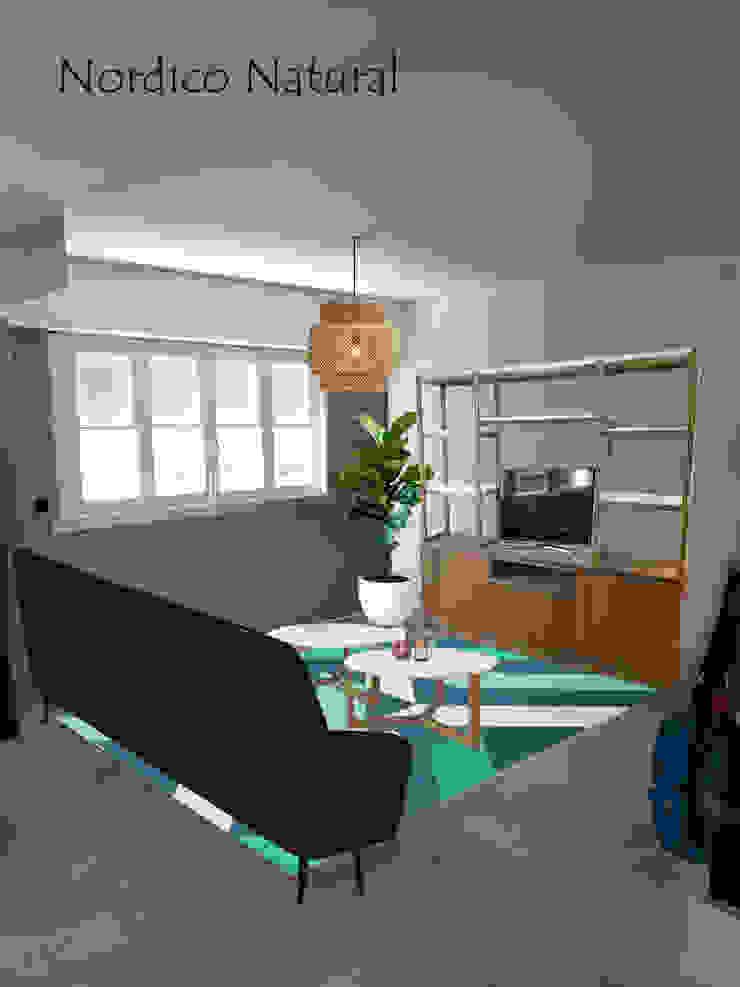 Living 1 Opcion B Salones escandinavos de OOST / Sabrina Gillio Escandinavo