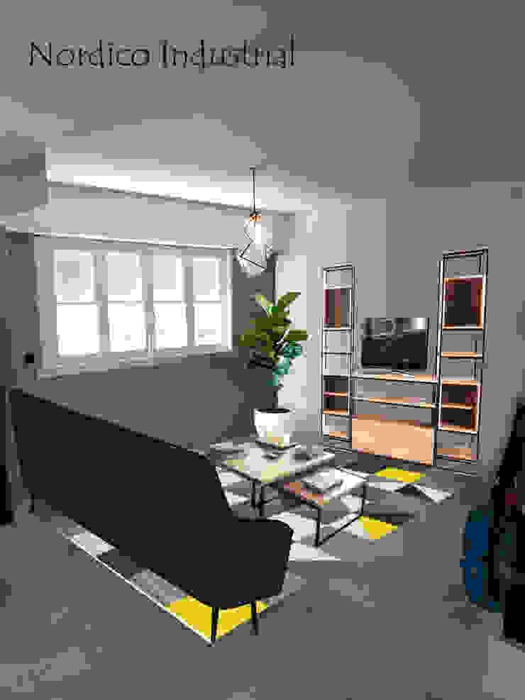 Living 1 Opcion A Salones escandinavos de OOST / Sabrina Gillio Escandinavo