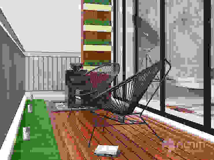 Home design of Residence 22, Mont Kiara Norm designhaus Modern garden