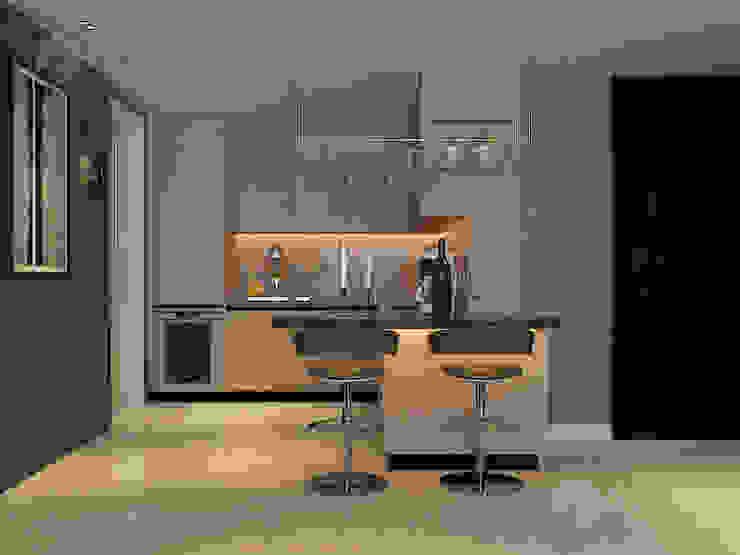 Home design of Residence 22, Mont Kiara Norm designhaus Modern kitchen