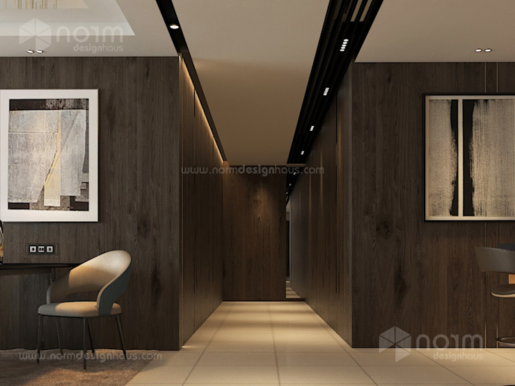 Home design of Residence 22, Mont Kiara Norm designhaus Modern corridor, hallway & stairs