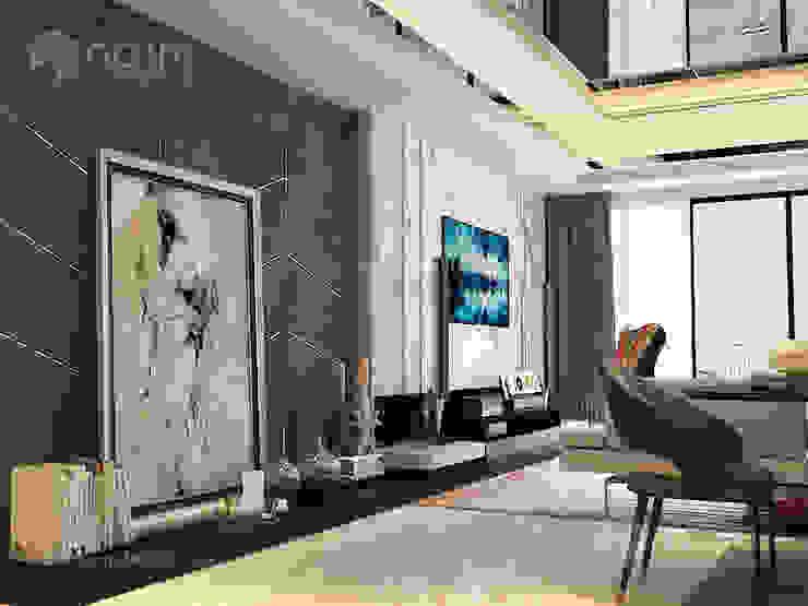 Home design of Residence 22, Mont Kiara Norm designhaus Modern living room