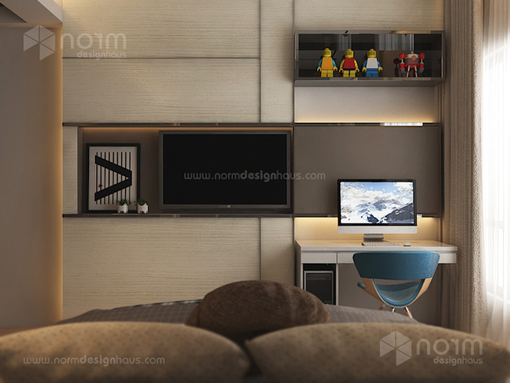 Home design of Residence 22, Mont Kiara Modern style bedroom by Norm designhaus Modern