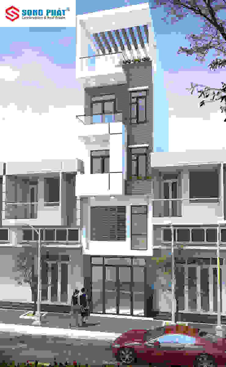 10 Mẫu nhà phố đẹp với phong cách hiện đại bởi Công ty Thiết Kế Xây Dựng Song Phát Châu Á