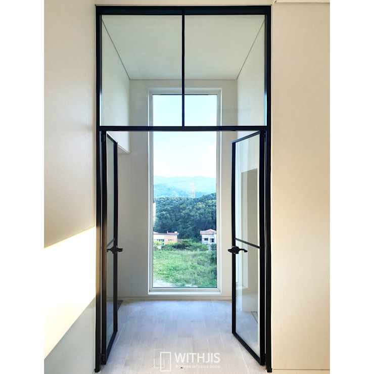 WITHJIS(위드지스) Glass doors Aluminium/Zinc Black