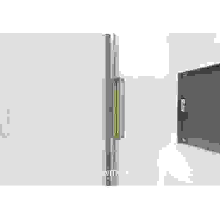ALU-SD / 1SD(슬라이딩 도어1) 핸들 모던스타일 복도, 현관 & 계단 by WITHJIS(위드지스) 모던 알루미늄 / 아연