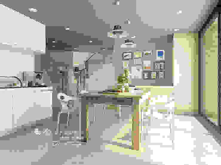 餐廳/廚房/歐式系統廚具/輕工業風 根據 木博士團隊/動念室內設計制作 工業風 木頭 Wood effect