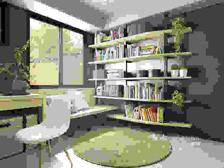 書房/書櫃/臥室/鐵件/輕工業風 根據 木博士團隊/動念室內設計制作 工業風 鐵/鋼