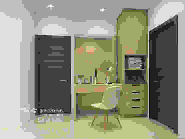 更衣室/化粧檯/主臥/輕工業風 根據 木博士團隊/動念室內設計制作 工業風 木頭 Wood effect