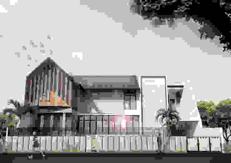 H-House Oleh Scande Architect Tropis Beton