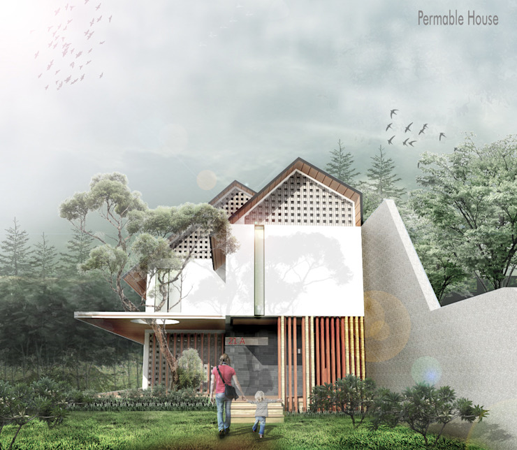 Permable House Oleh Scande Architect Tropis Beton