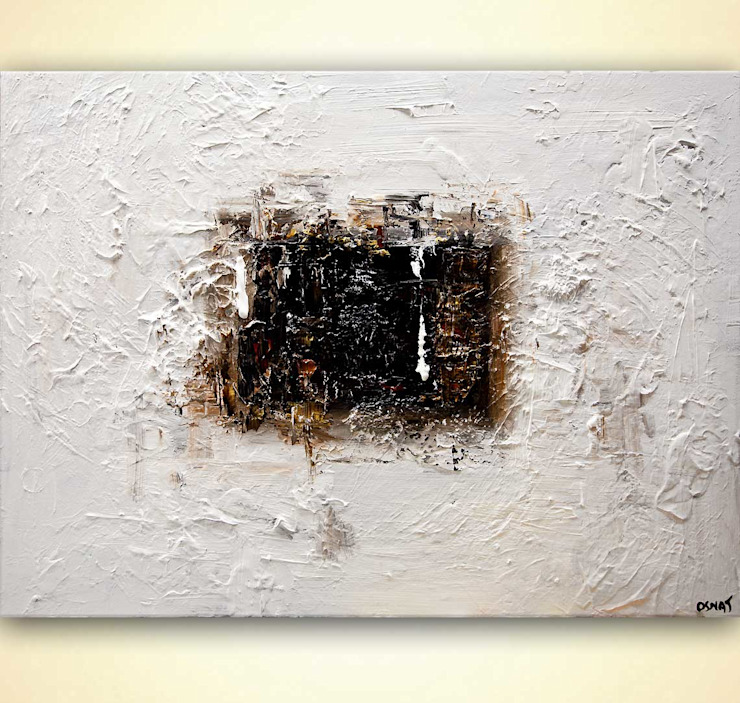 """""""The Door"""" - white black abstract painting by Osnat Tzadok OSNAT FINE ART ArtworkPictures & paintings White"""
