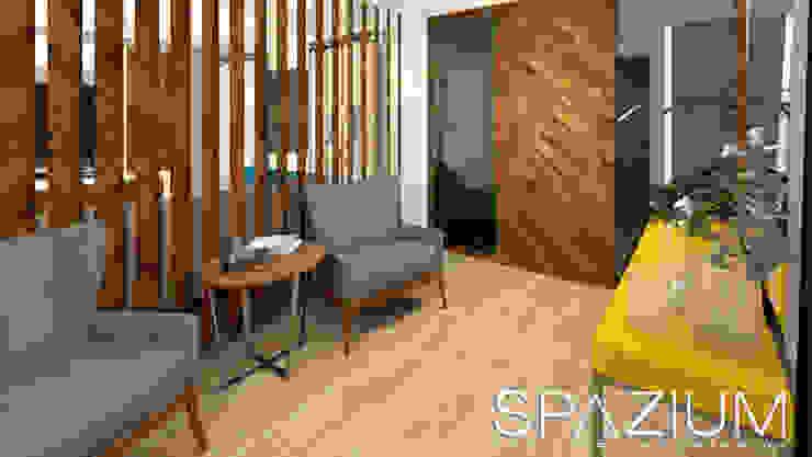 •DISEÑO SALA COMEDOR• Casas modernas: Ideas, diseños y decoración de SPAZIUM ARQUITECTURA INTERIOR Moderno