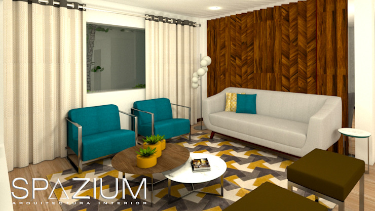 Casas modernas por SPAZIUM ARQUITECTURA INTERIOR Moderno