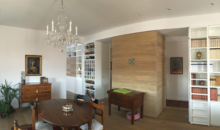 Classic style dining room by DUOLAB Progettazione e sviluppo Classic Wood Wood effect