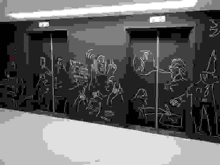 Oficinas Impact Hub Caracas Oficinas de estilo industrial de RRA Arquitectura Industrial Goma