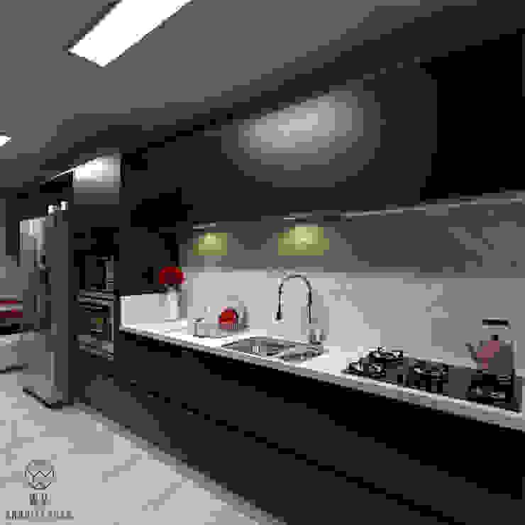 Cozinha WV ARQUITETURA Armários e bancadas de cozinha Preto