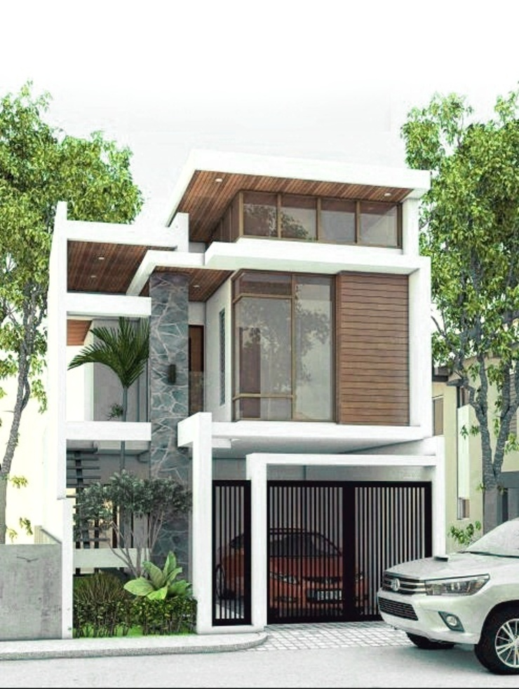 Proposed 2 storey 2-bedroom residential by ezpaze design+build Modern