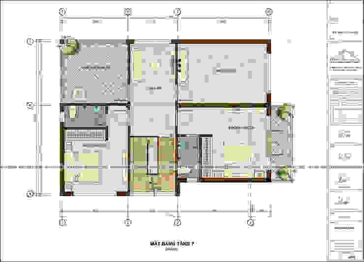 BIỆT THỰ HIỆN ĐẠI ĐỒNG ANH bởi Công ty CP kiến trúc và xây dựng Eco Home