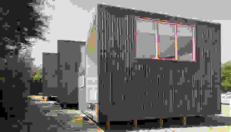 Cabañas Algarrobo de m2 estudio arquitectos - Santiago Escandinavo Madera Acabado en madera