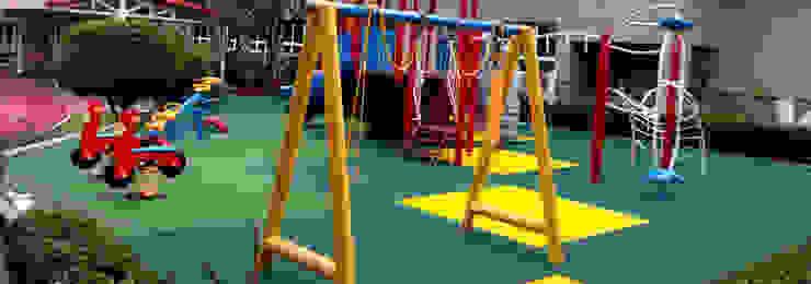 Playground Jakarta International Korea School PT. Datra Internusa Sekolah Modern Multicolored