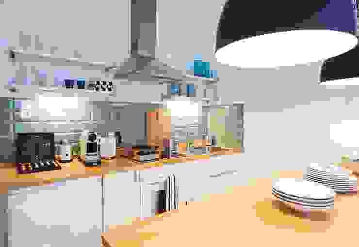 Möbliertes Appartement - Kochen Industriale Esszimmer von Tschangizian Home Staging & Redesign Industrial