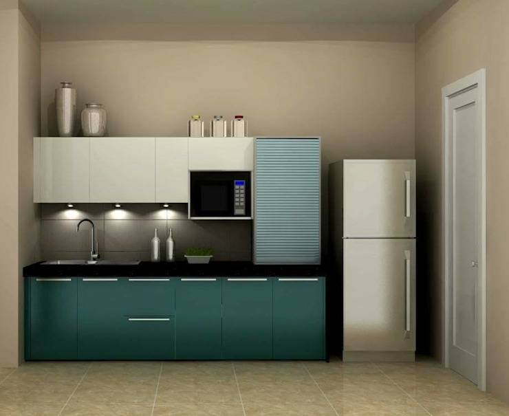 Kitchen Asian style kitchen by Golden Spiral Productionz (p) ltd Asian