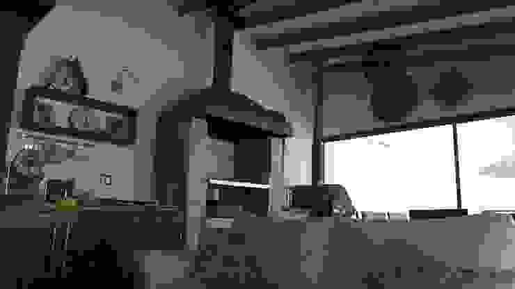 DISEÑO VIVIENDA MAC 220 Livings de estilo moderno de Territorio Arquitectura y Construccion - La Serena Moderno