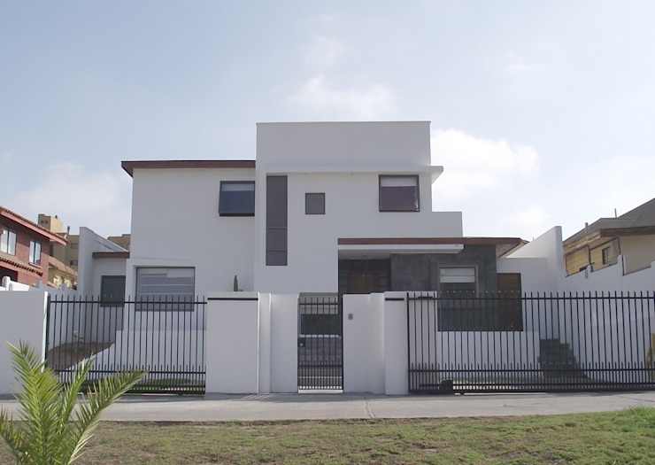 DISEÑO VIVIENDA MAC 220 Casas estilo moderno: ideas, arquitectura e imágenes de Territorio Arquitectura y Construccion - La Serena Moderno